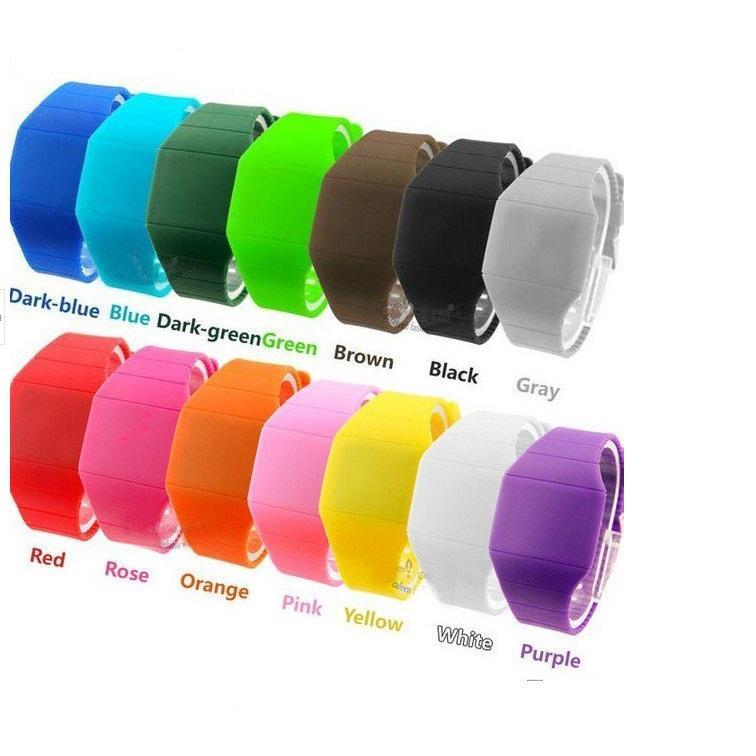 韓國Ulzzang 潮流原宿糖果色LED 觸控手錶果凍錶 手環02