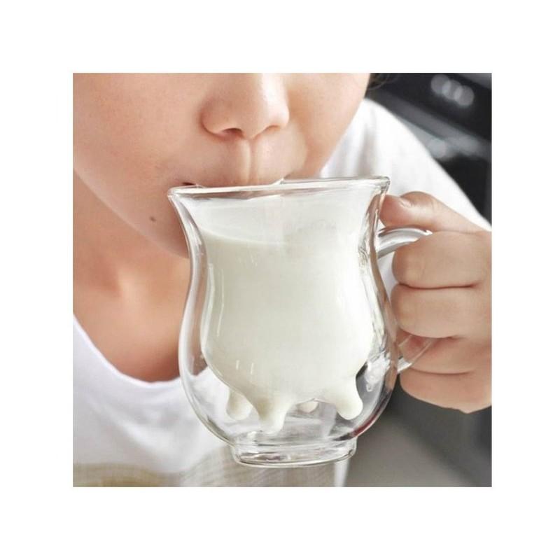 透明双層耐高溫無鉛玻璃杯250ml 耐熱牛奶杯飲料杯果汁杯水杯