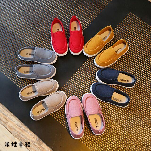 鞋內長14 18 5 公分2017 2 8 歲 女童單鞋百搭帆布男童鞋低幫兒童 休閒鞋潮1