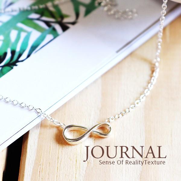 925 純銀極簡無限符號鎖骨鍊短項鍊_Journal