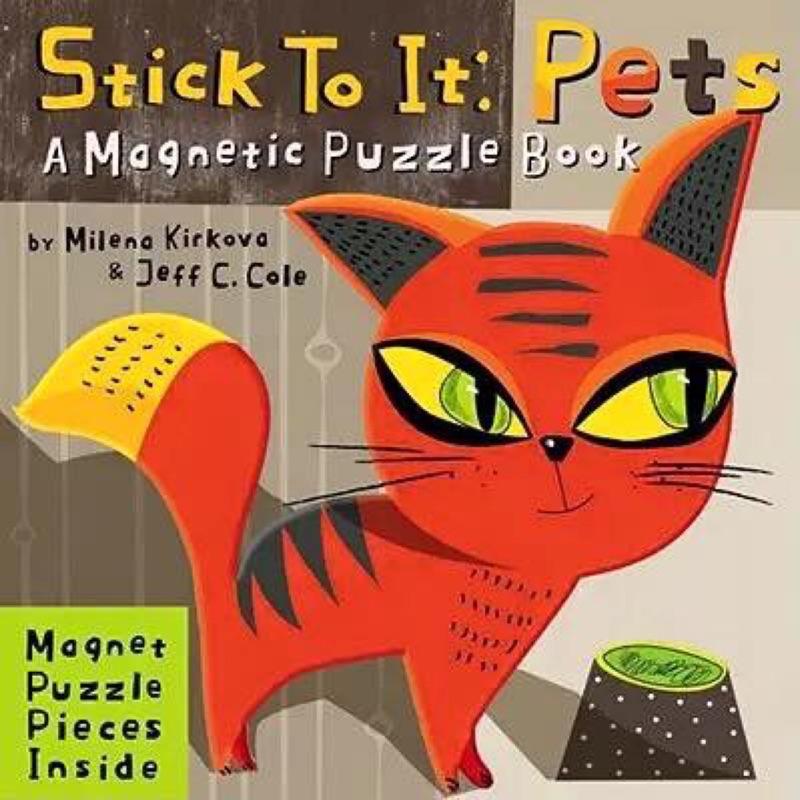 英文操作繪本STICK TO IT PETS (磁鐵巧拼遊戲書)