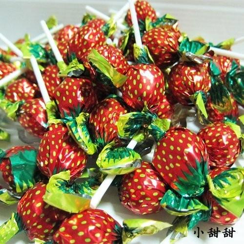 草莓棒棒糖500g 婚禮小物送客禮 水果棒棒糖迪士尼棒棒糖凱蒂貓棒棒糖棉花糖跳跳糖小甜甜