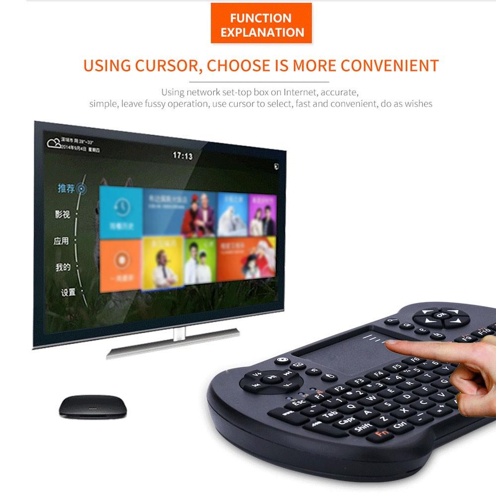 無線迷你鍵盤內置觸控板滑鼠智慧電視機上盒子平板電腦