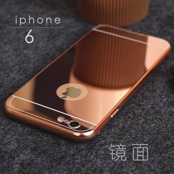 電鍍金屬邊框鏡面鏡子背板 iPhone 6 Plus i6 6S i5 5s SE 保護殼