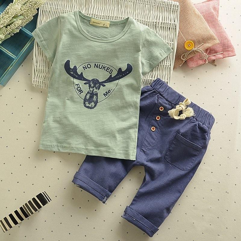 韓流 男童夏裝套裝 寶寶1 5 周歲兒童 兩件套2 4 歲男女 背心T 恤線衫Polo 衫