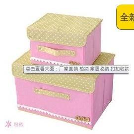地攤站廠家直銷格納家居收納扣扣收納箱釦子收納箱整理箱兩件套139