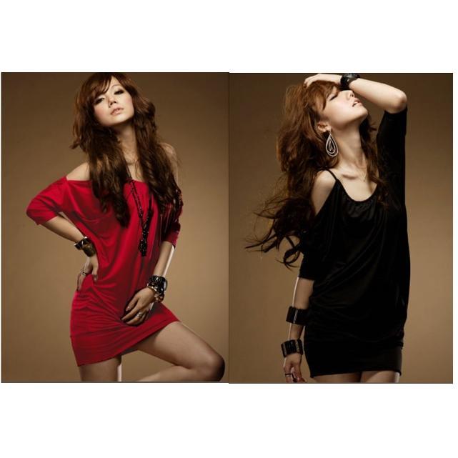 ~風尚主人~~YY808 ~ 女裝夜店性感包臀紅色洋裝連身裙露肩裙子