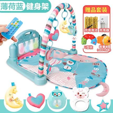 ~下單送U 型枕充電組故事機~嬰兒腳踏鋼琴健身架器新生兒音樂遊戲毯寶寶玩具3 6 12 個