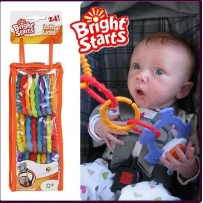 ~ ~美國Bright starts 嬰兒QQ 彩虹圈連環磨牙手抓圈