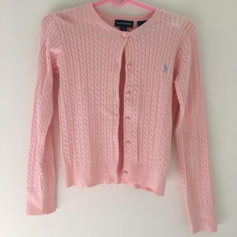 Ralph Lauren 粉紅棉衫小外套s 號