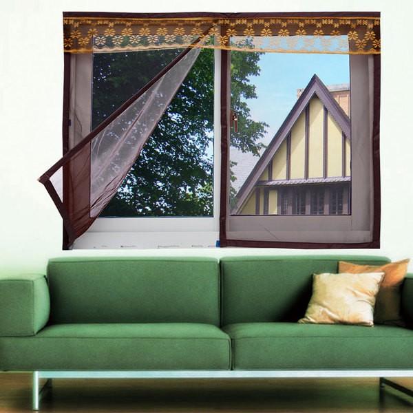 加密隱形紗窗網防蚊紗窗門簾磁性紗網 鋁合金不鏽鋼防盜沙窗