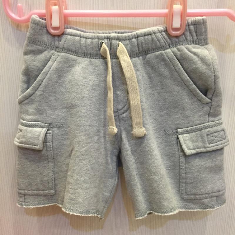 2T ♻️Gymboree 女童純棉灰色毛圈抽繩短褲褲子