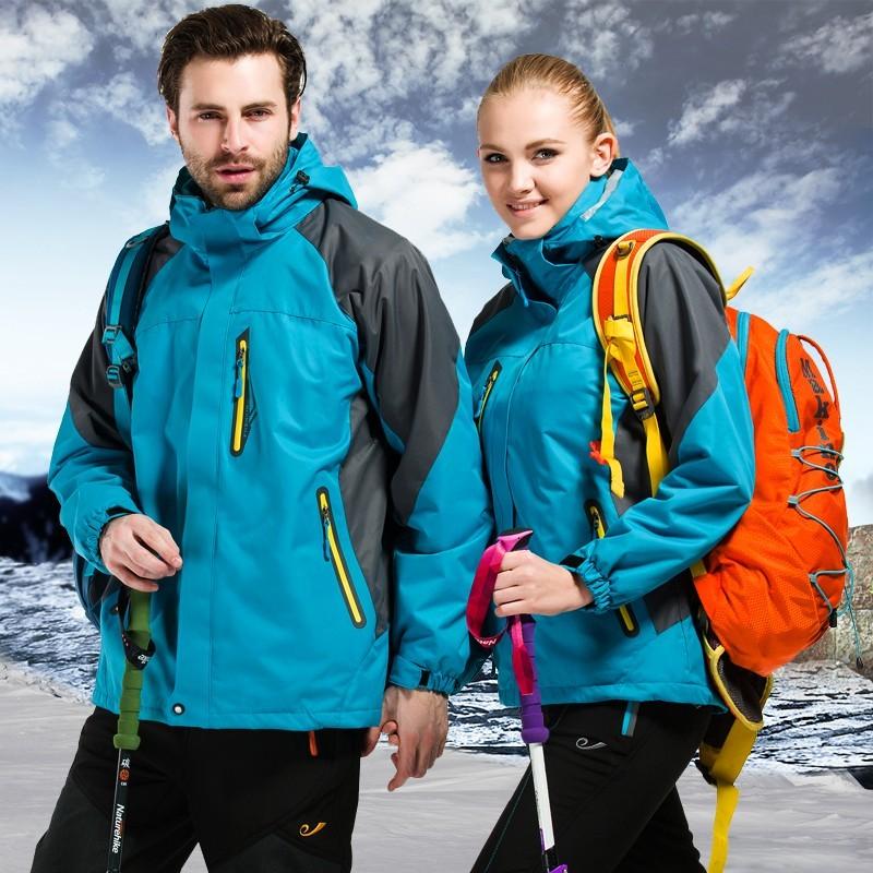 貝蒂舖戶外正品沖鋒衣男女兩件套三合一兩件套防風保暖 加厚登山服