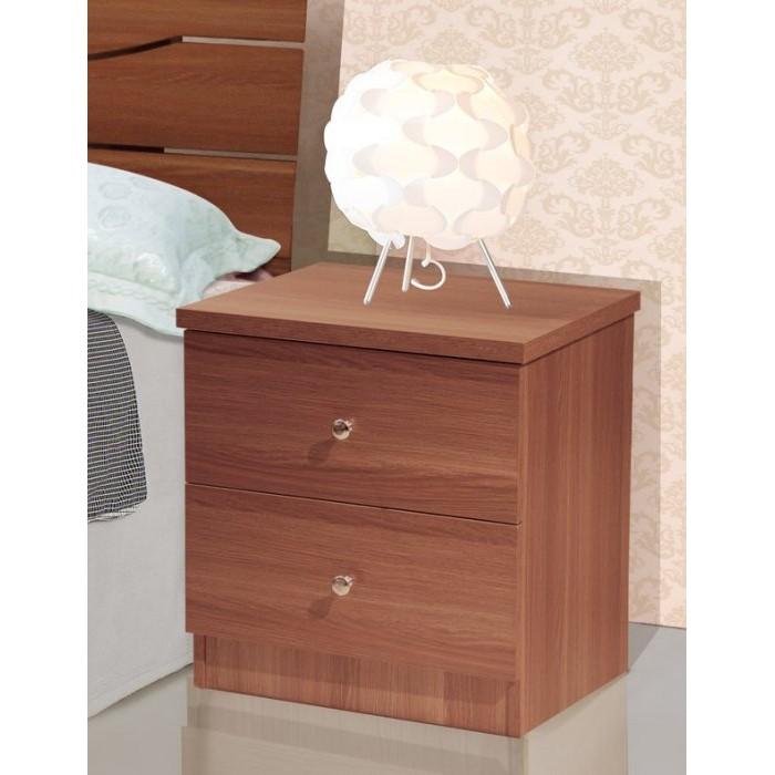 ~昱陽傢俱~艾奇胡桃色床頭櫃二抽櫃置物櫃 白橡色及淺胡桃色~桃園以北免 ~