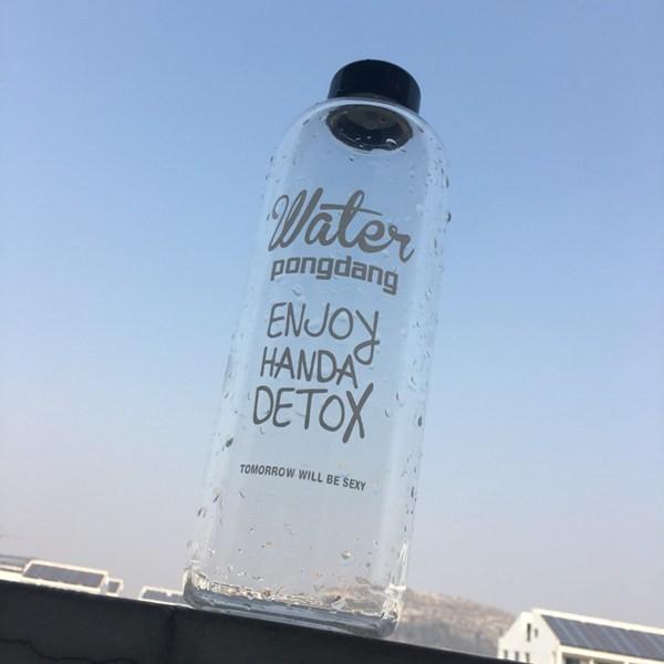 24H 內發貨 中✨✨韓國大容量玻璃水瓶1000ML 水壺水杯戶外露營水壺隨行杯學生水瓶玻