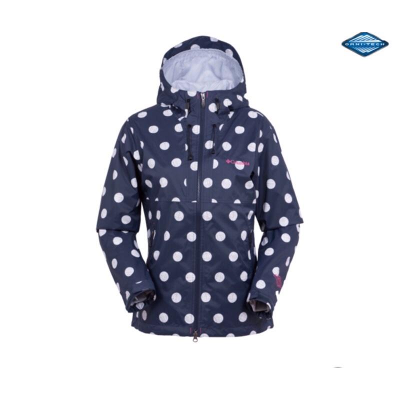 🍄立即出貨🍄二手 哥倫比亞 Columbia OMNI-TECH 女生 藍底白點 防水外套 S