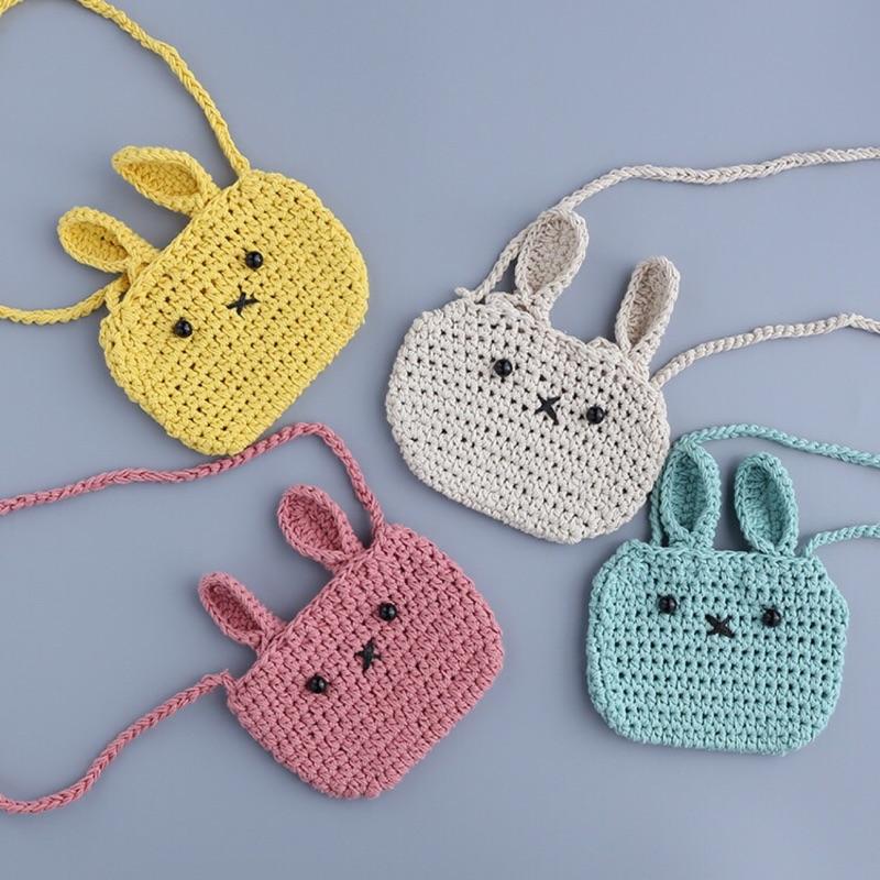 曈曈Baby 2016 新品韓國 包包兒童掛包嬰兒斜挎包寶寶可愛毛線兔子單肩包