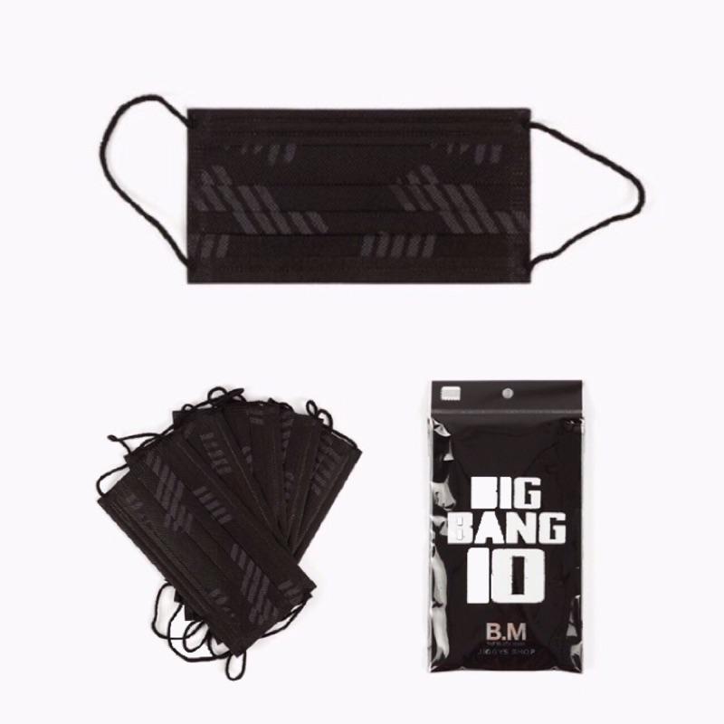 ( )BIGBANG 十週年演唱會官方週邊 口罩五入