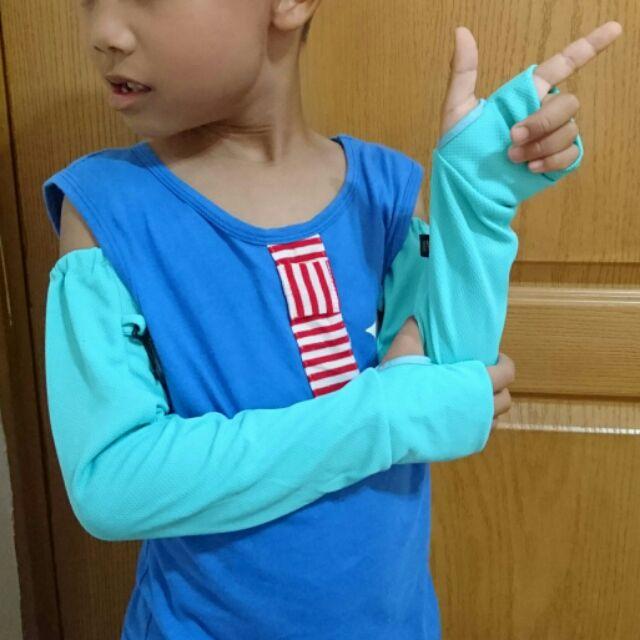 ➡涼感防曬兒童袖套機能性布料輕量舒適男女童