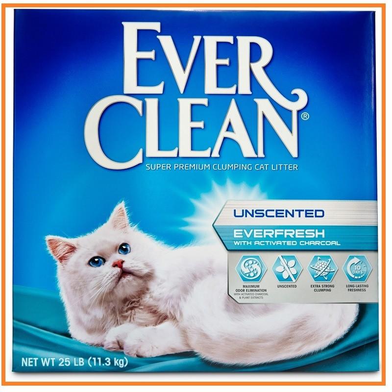 此 無法超取美國EVER CLEAN 盒裝貓砂白標25 磅雙重活性強效除臭低過敏消臭活性碳