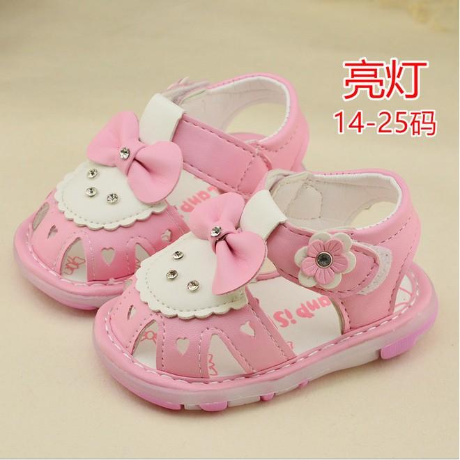 ♚C‧R♚14 25 碼2016 春夏 韓系嬰兒兒童男女童小童寶寶學步鞋蝴蝶結軟底鑲鑽平底