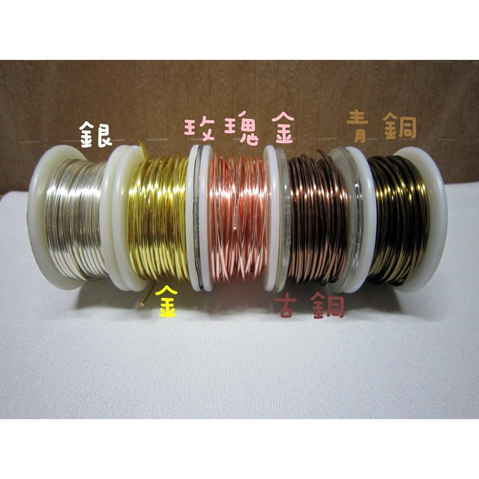 美國 金屬鍍銀銅線圓線古銅青銅