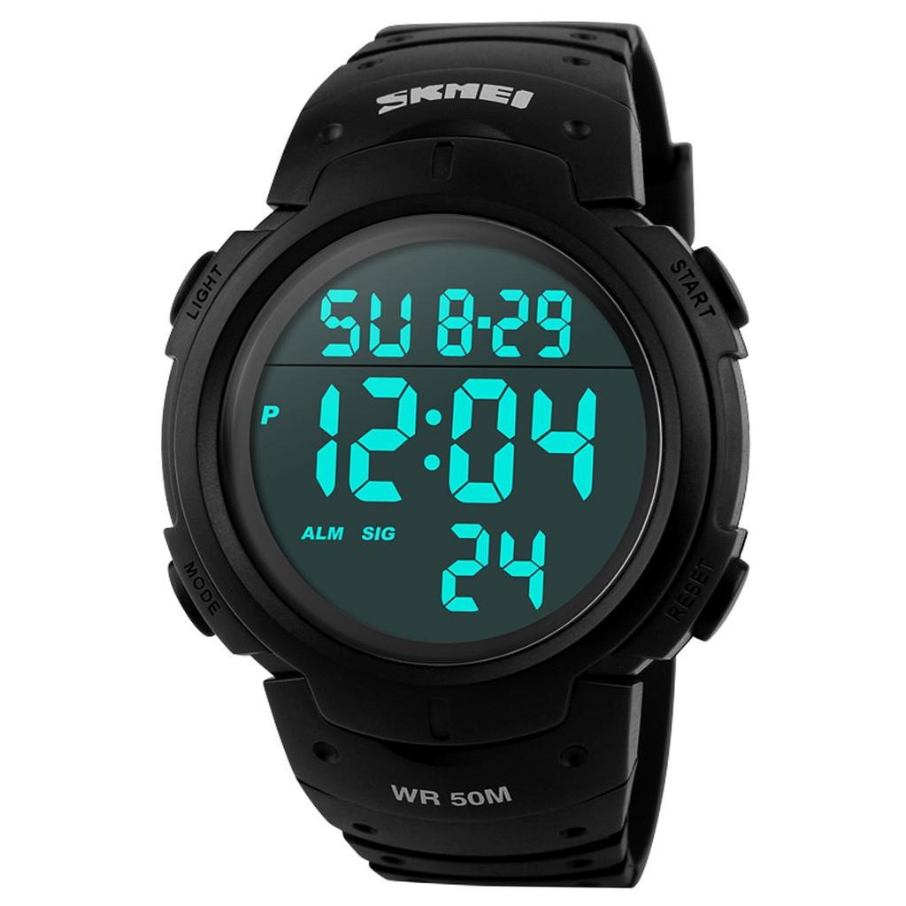SKMEI 防水男士數字LED 手錶黑色
