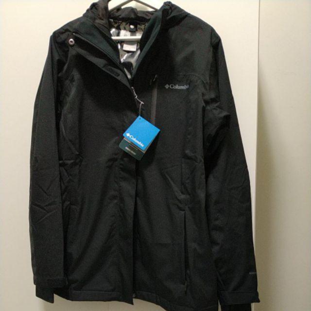 全新Columbia(哥倫比亞)Commi-Heat鋁點發熱女防水外套/黑色/含運售出