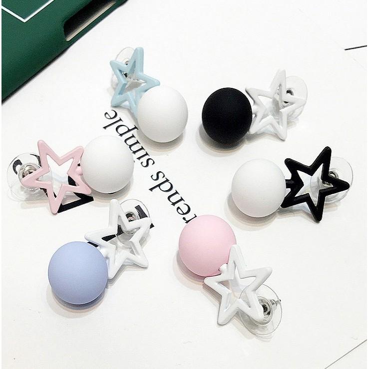 星星款不對稱顯瘦韓國 氣質簡約耳釘耳環Small Puzi ~B11046 ~
