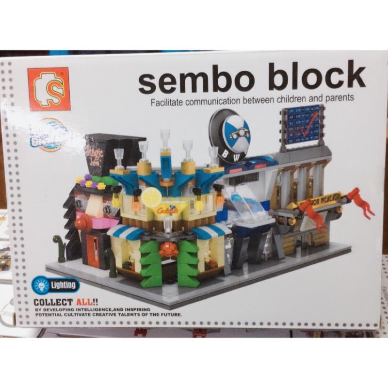 ❤️春的店❤️6528 31 sembo block 街景積木~大顆粒~街景~附燈光