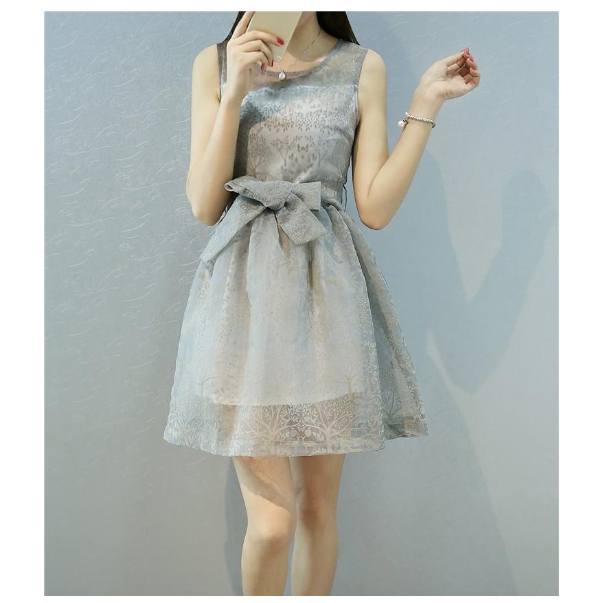 款YN032116 2 甜美俏麗歐根紗蝴蝶結洋裝連身裙小禮服伴娘禮服S L