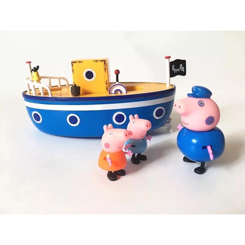 新開幕 Peppa pig 佩佩豬粉紅豬小妹豬爺爺游水船小豬航海套裝過家家玩具洗澡玩水玩具
