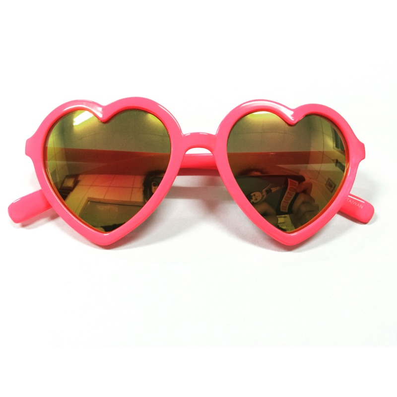 小孩太陽眼鏡粉色愛心型框