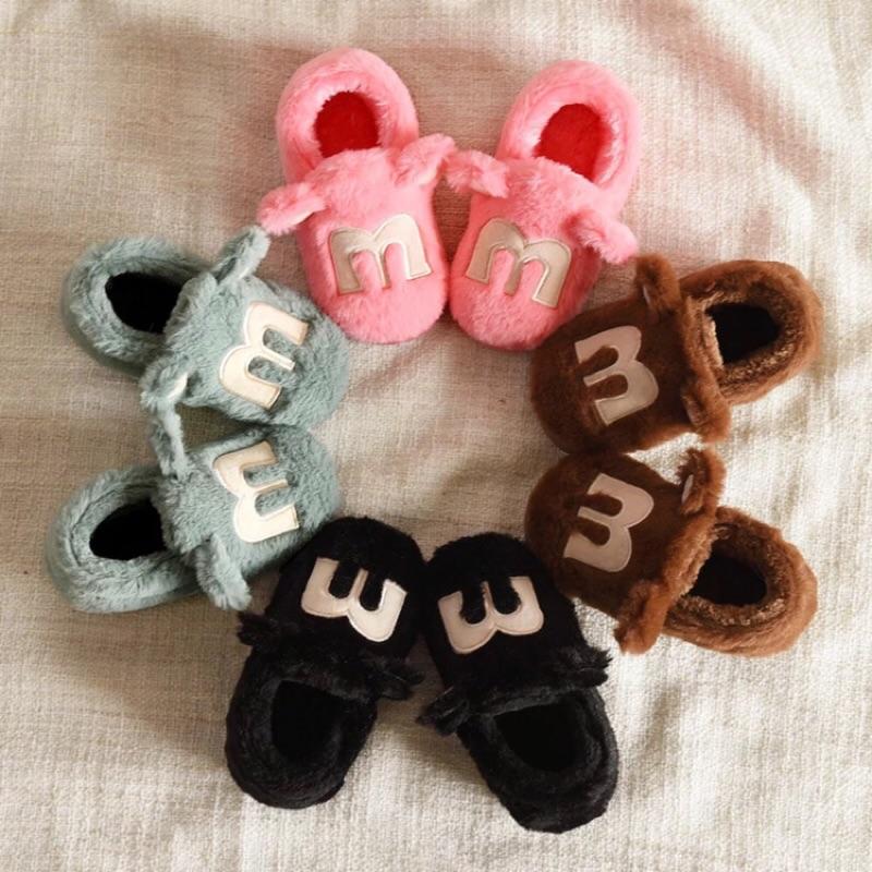 寶寶大童中童小朋友保暖毛拖鞋室內拖鞋