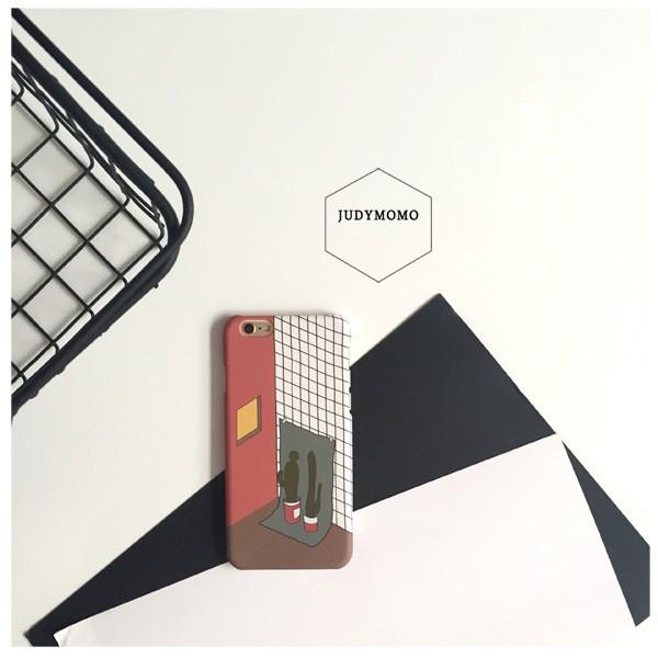 iphone6 手機殼韓國chic 幾何封帆復古iphone7 6s plus 手機殼5s
