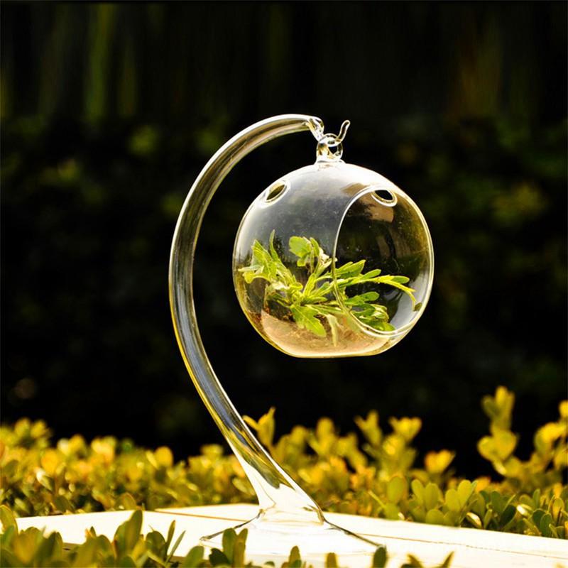 掛式水晶玻璃燭台花瓶婚禮裝飾工具