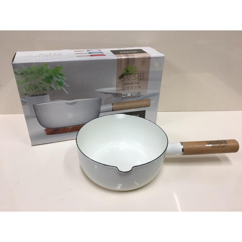 直購 仙德曼琺瑯牛奶鍋單柄15cm SV315 湯鍋鑄鐵鍋 三色