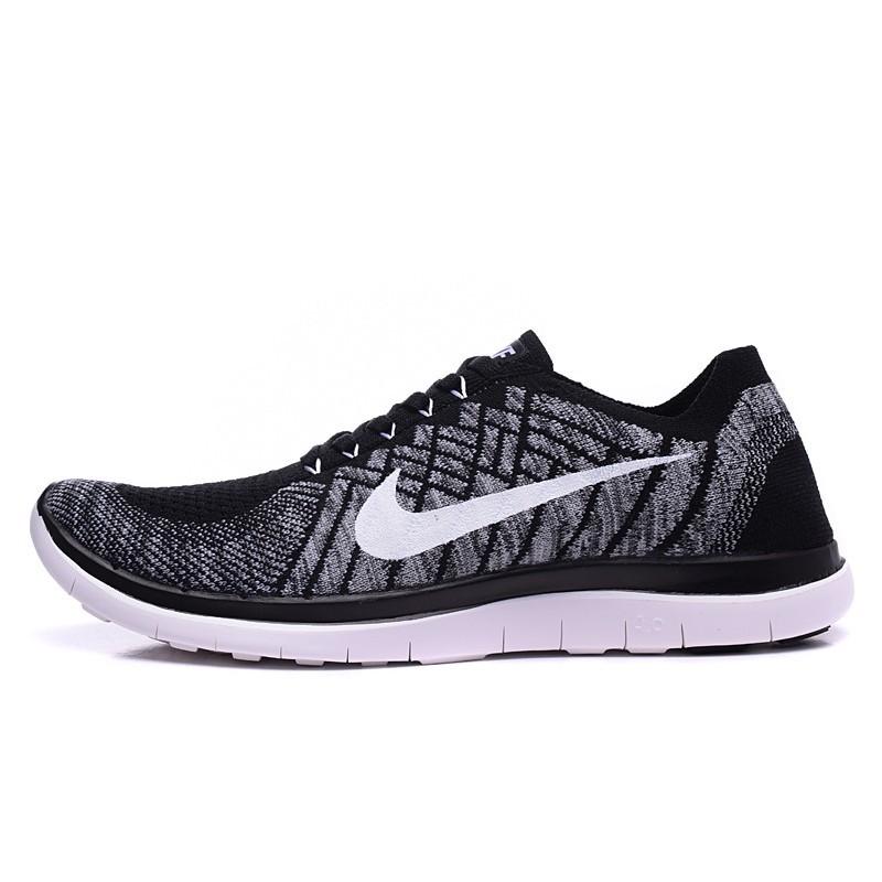 ~T 韓國 ~Nike Free 4 0 赤足飛線透氣男鞋編織 輕便跑步鞋 鞋黑灰女子慢跑