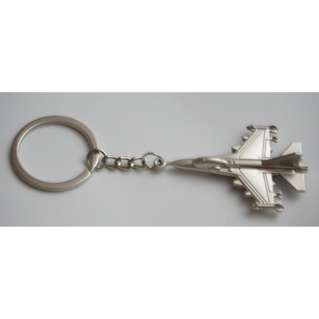 立體戰鬥機鋅合金金屬鑰匙圈鑰匙扣鑰匙環鑰匙包航空軍事阿帕契直昇機F16 消光銀色