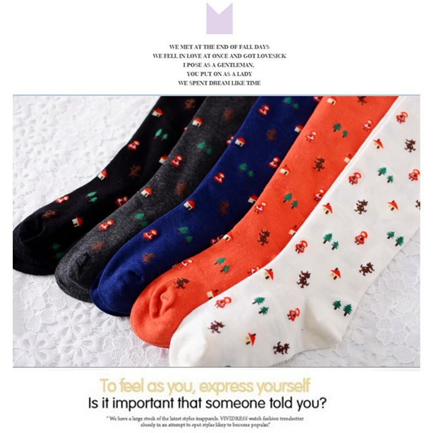兒童打底褲襪廠家 韓國外貿 全棉聖誕樹200 針小紅帽連褲襪