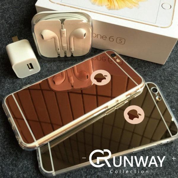 ~鏡面軟殼~iphone 6s 玫瑰金TPU 電鍍鏡面矽膠全包邊透明邊iphone 6