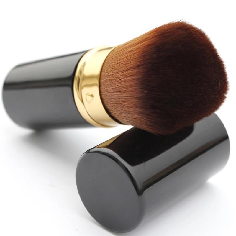 伸縮便攜式腮紅刷蜜粉刷化妝刷,輕巧收合,方便收納~毛質綿密,觸感柔順~便攜式腮紅刷蜜粉毛筆