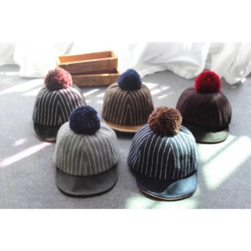 …寶寶… 韓國兒童 小球飛行帽馬帽小孩韓系可愛棒球帽球翻簷