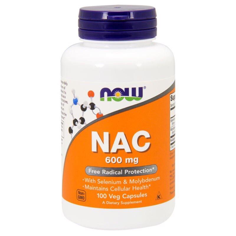 Now foods NAC 600mg 100 顆