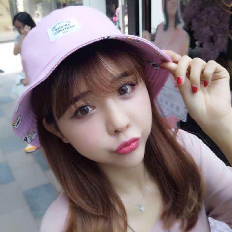 韓國ulzzang 原宿薯條雙面盆帽漁夫帽子男女潮 防曬夏天遮陽帽