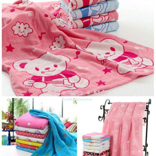 追加中❤超 可愛三層紗純棉兒童浴巾涼被包被