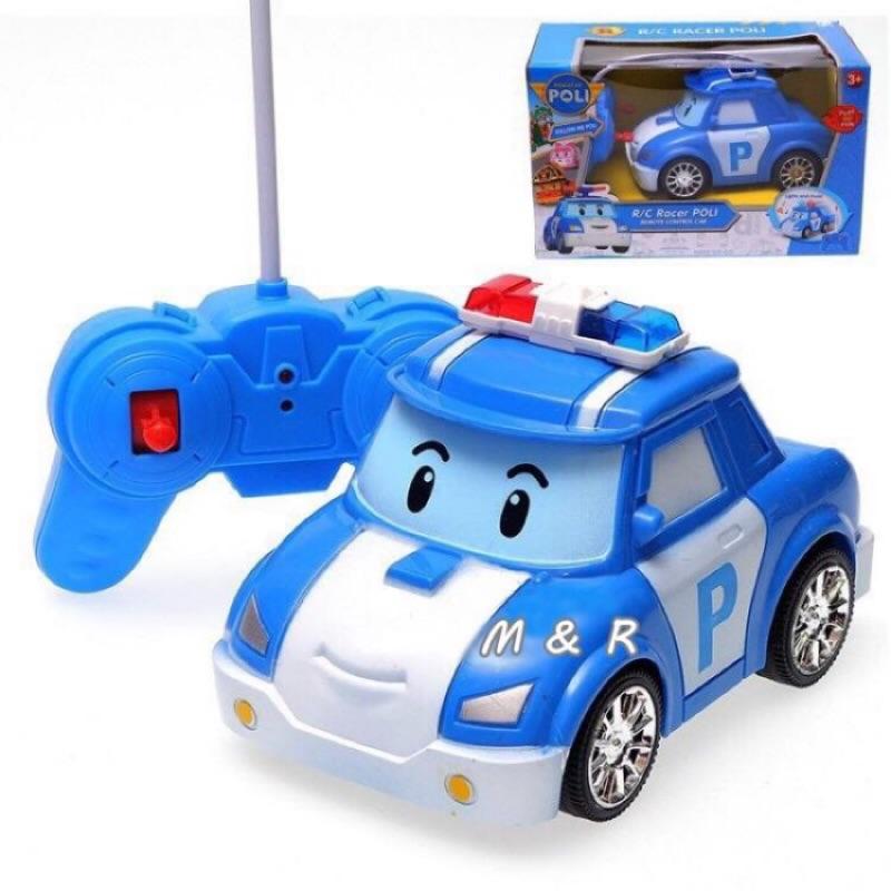 Poli 遙控車波力POLI 無線控制遙控汽車警車電動車益智玩具韓國救援小英雄變形機器人