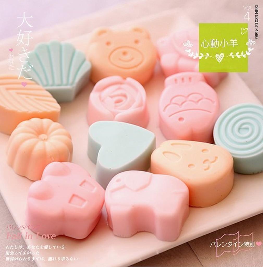 心動小羊可愛兔子魚汽車貝殼熊矽膠模具果凍美巧克力模 皂模具製冰盒餅乾模具翻糖、香磚、迷你皂