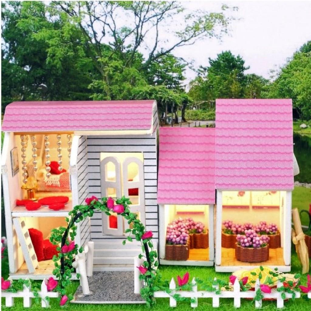 大旺小舖DIY 袖珍屋娃娃屋材料包甜蜜小天地大台北可面交免 生日情人節聖誕