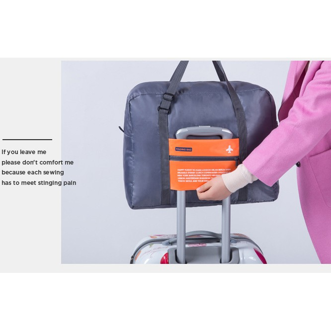 ~NewDemand ~NewLife ㊝防潑水折疊式拉桿手提袋旅遊行李袋收納折疊收納大容